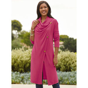 Especially Yours Knit Side-Button Tunic 1X